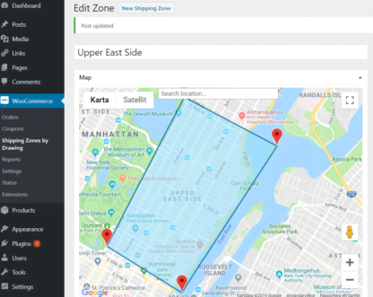 Draw shipping zone in WooCommerce