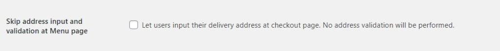Skip address validation