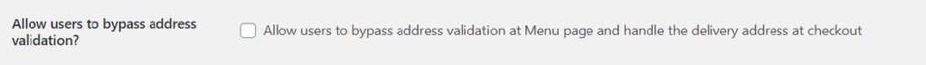 Bypass address validation