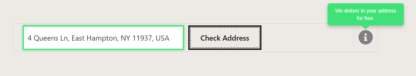 Enter an delivery address to validate